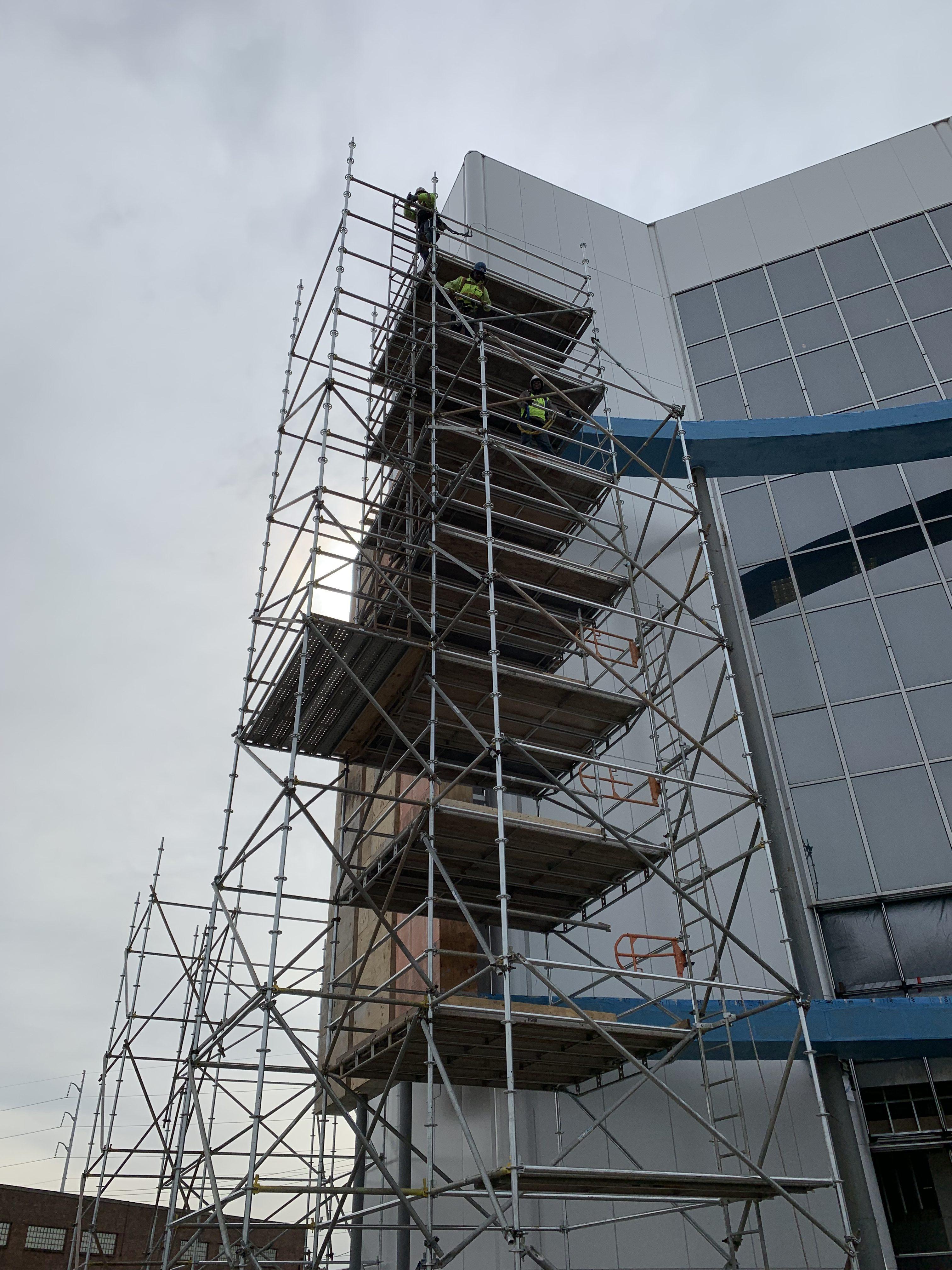 AmFirst Bank sign scaffold 13
