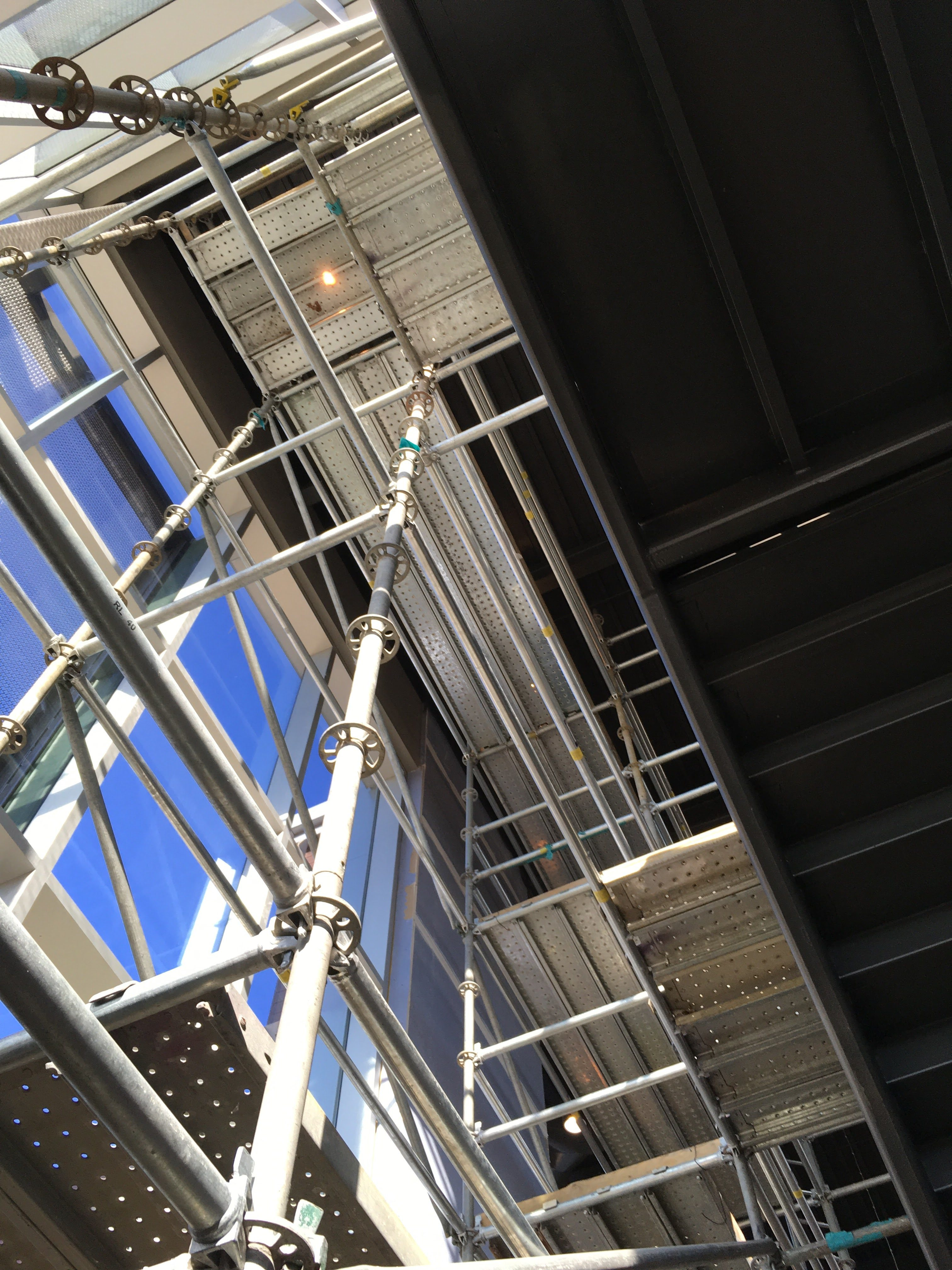 Top Golf Stairwell scaffold 4