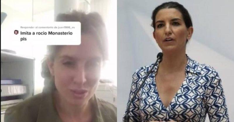 """""""Lo clava"""". El vídeo viral de una imitadora de Rocío Monasterio"""