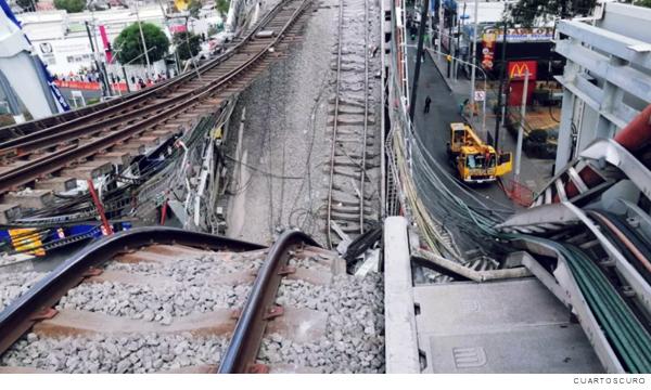 colapso en línea 12 del metro