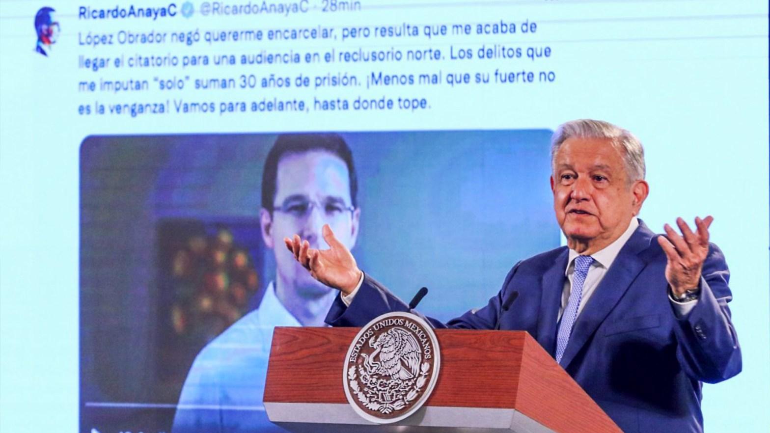 EL presidente hablando sobre las acusaciones de Ricardo Anaya