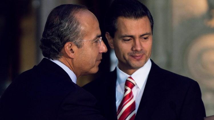 Expresidentes Calderón y Peña