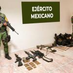 Armas incautadas al Cártel del Golfo y del Pacífico