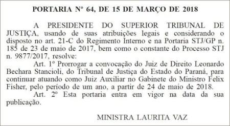 O caso do juiz do Paraná que virou auxiliar no STJ