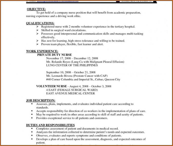 Resume Format For Nurses Freshers Pdf لم يسبق له مثيل الصور