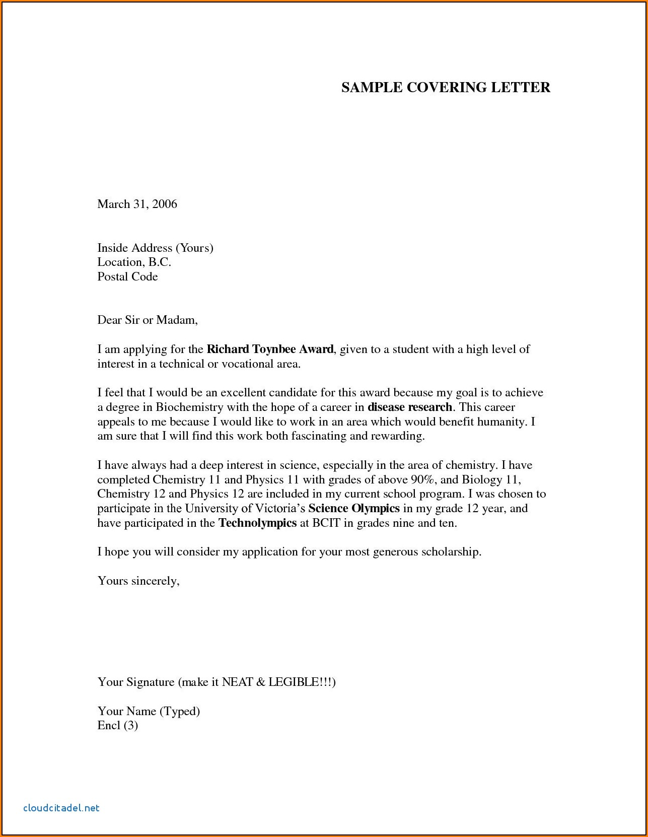 Job Cover Letter Example Cover Letter For It Job Application Pdf Information Technology