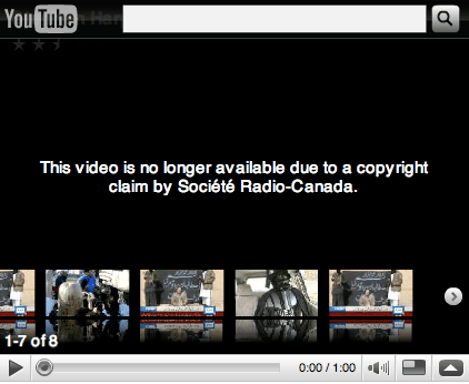 Radio Canada takedown