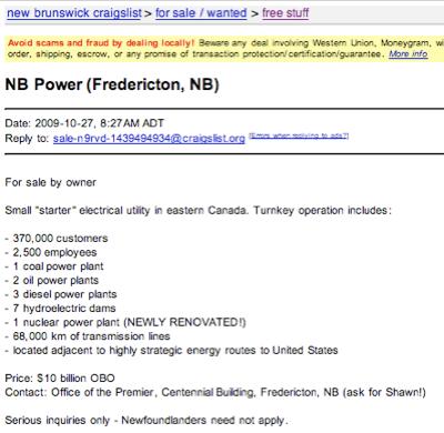 NB Power-craigslist