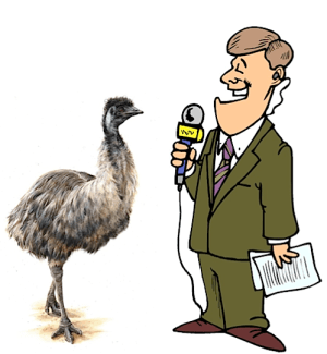Reporter and Emu