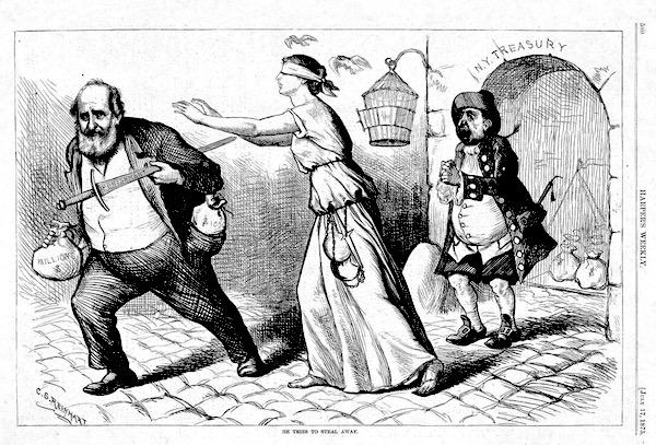 Boss Tweed caricatured in Harper's Weekly