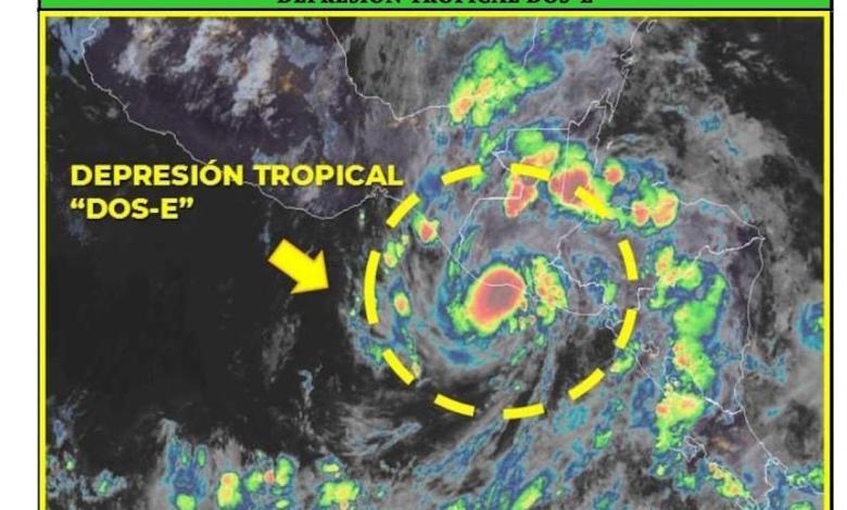 Photo of Lluvias desde este domingo hasta el jueves por Depresión Tropical DOS-E