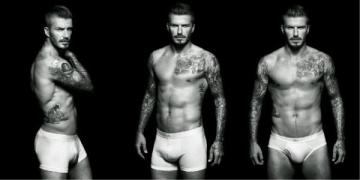 David Beckham en ropa interior