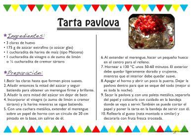 receta tarta pavlova clásica