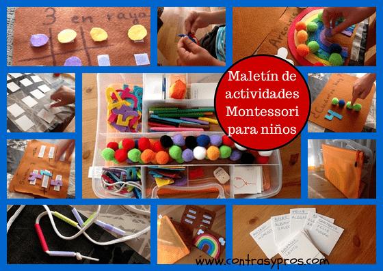 del divertido maletn de actividades Montessori para nios