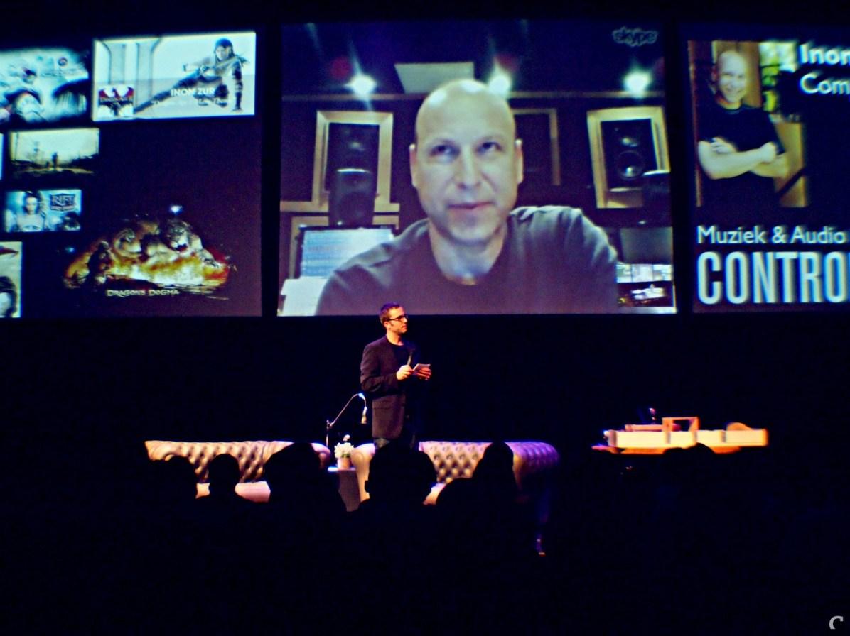Componist Inon Zur (Dragon Age, Crysis, Fallout 3) via Skype.