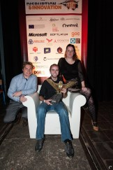Vlnr: Patrick Nijman (NMTrix), Casper van Est (DoubleDutch) en Jantiene de Kroon (MOOVES)
