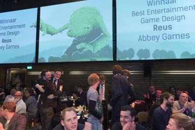 Abbey Games won met Reus: Best PC/Console Game, Best Entertainment Game Design en de Control Industry Award