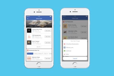 ¿Es Facebook el próximo JustEat? La red social apuesta por la comida a domicilio