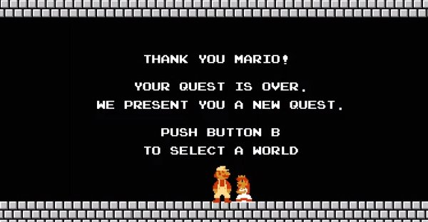 Super Mario quest over
