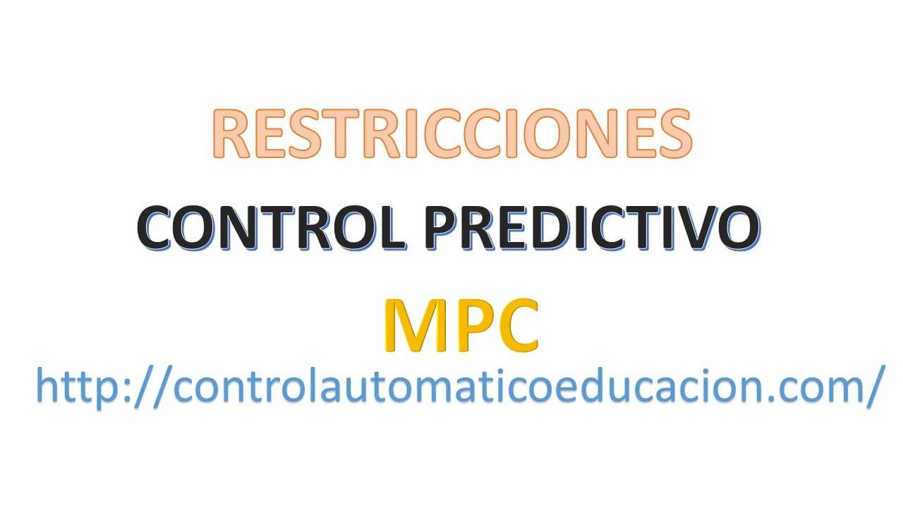 Restricciones en el MPC