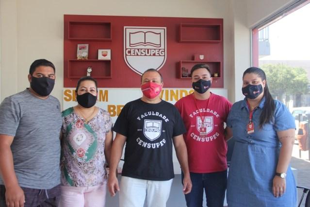 equipe administrativa do Polo de Pinhão da Censupeg