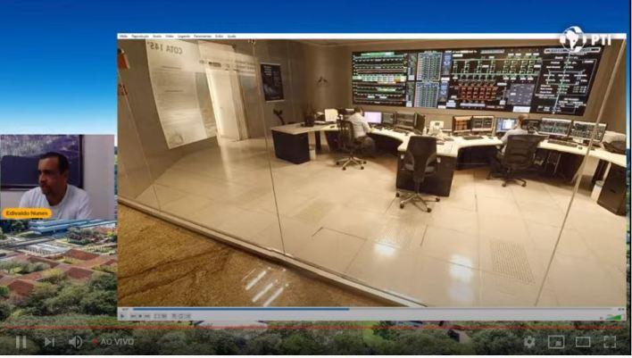 Uma tela da Aula virtual