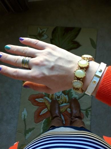 Silpada ring, Charming Charlie bracelets