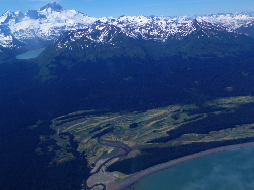 From the window of a small plane over Katmai National Park