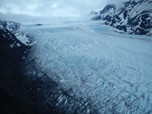 Grewingk Glacier: viewed from helicopter, then by foot later in the day