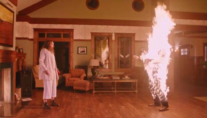 Hereditary film review fire scene
