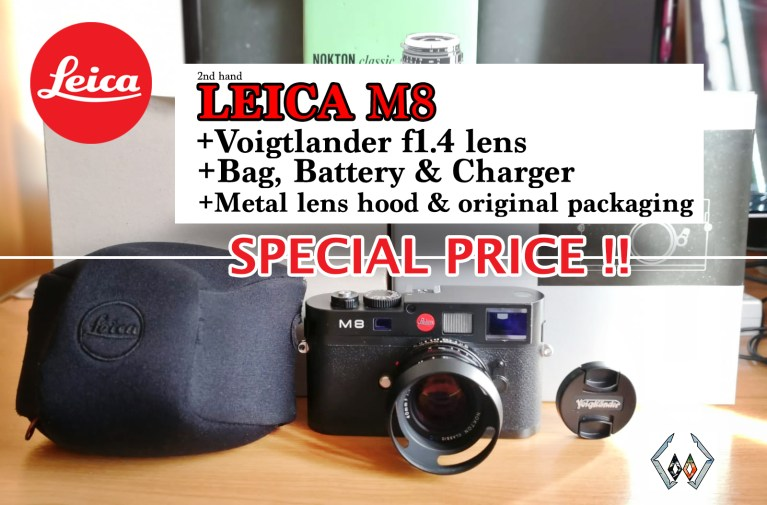 leica m8 selling announcement post image