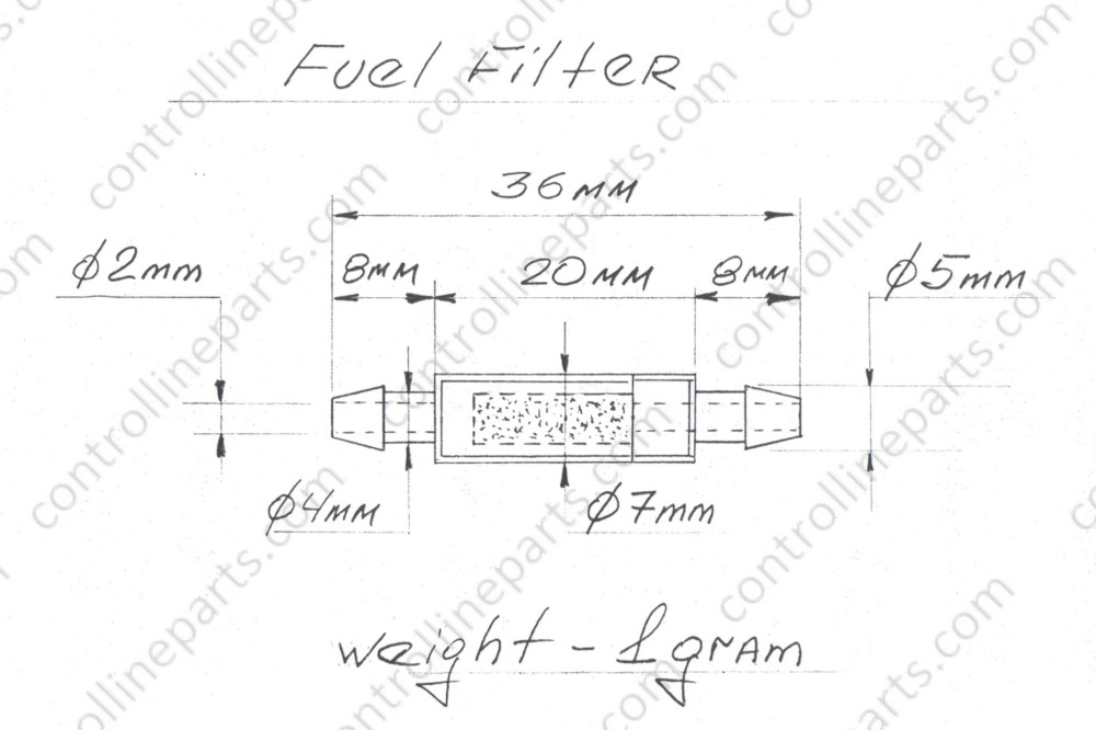 medium resolution of fuel filter stunt model