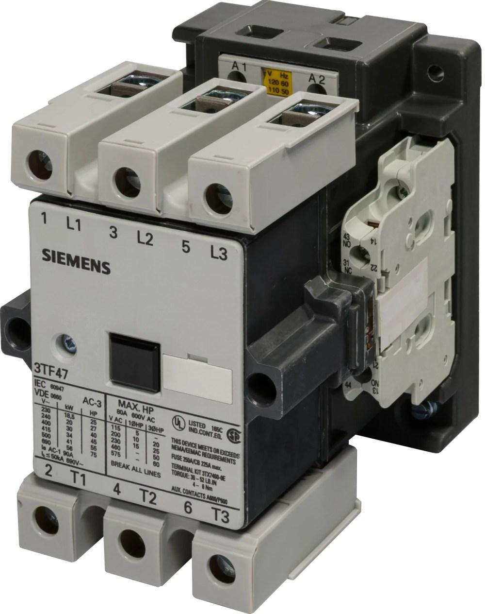 medium resolution of siemens 3tf47 motor starters contactors
