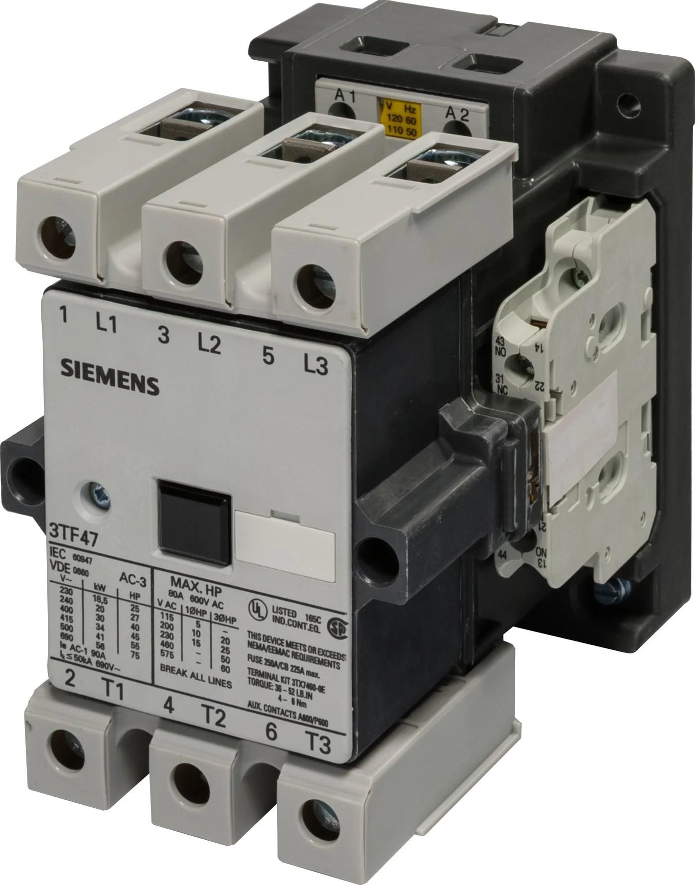 hight resolution of siemens 3tf47 motor starters contactors