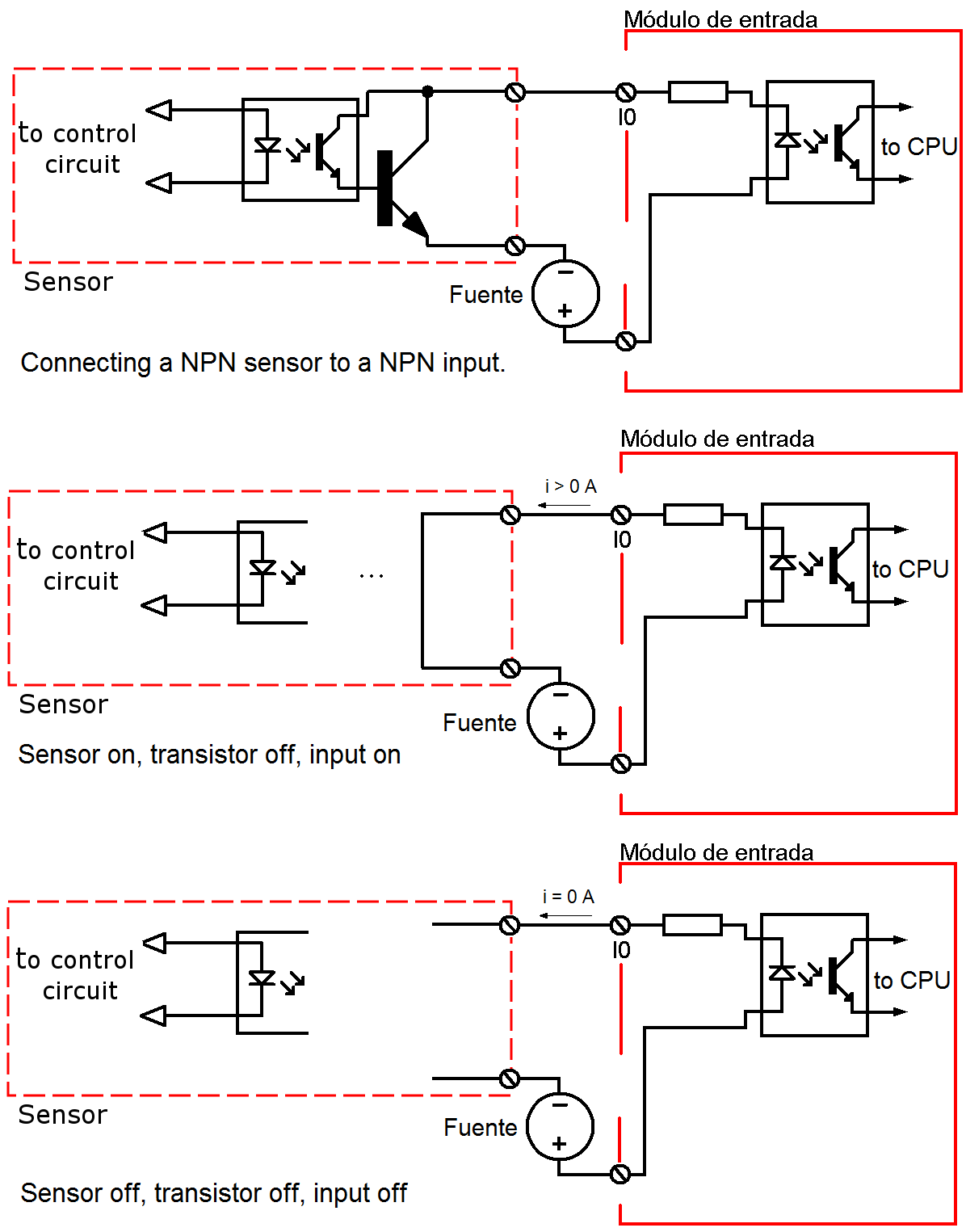 hight resolution of connecting npn sensor to npn input