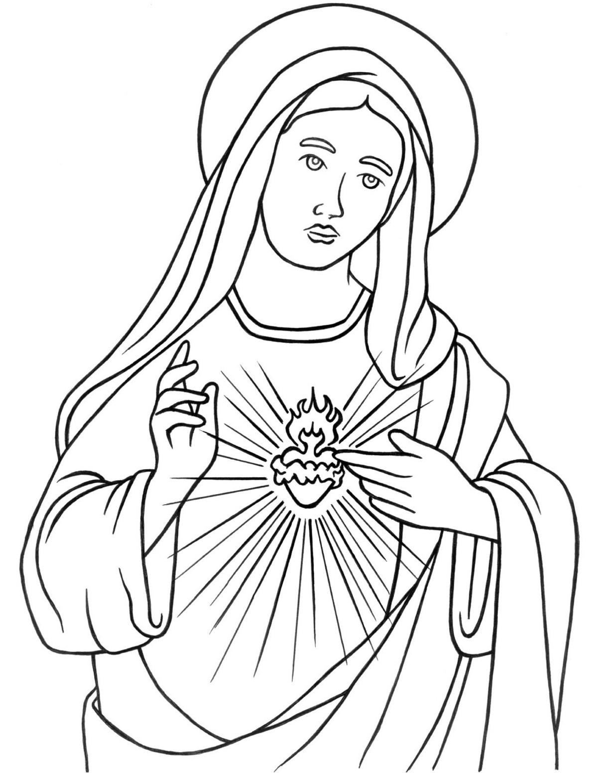 Desenho De Nossa Senhora De Fatima