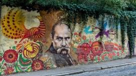 Mural a Taras Shevchenko en Kharkhiv