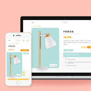 Diseño single page para ecommerce