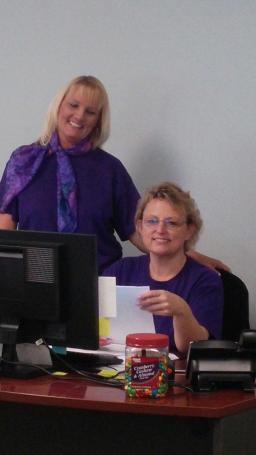 East Coast office staff pretty in purple in support of #CureSMA