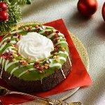 新発売の「緑のクリスマスリースのケーキ」です♪/ローソン