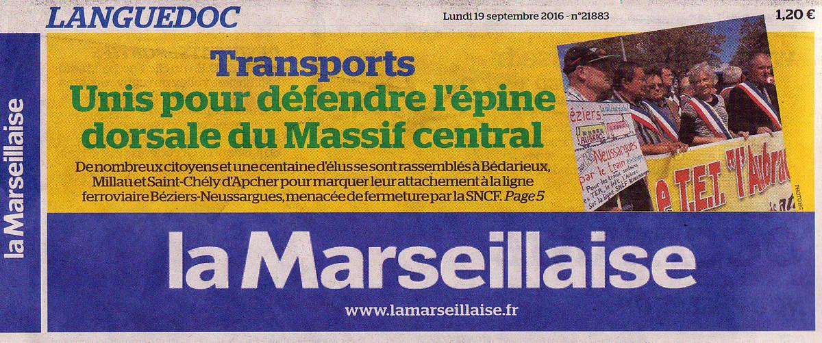 Deux articles récents de La Marseillaise sur le rail