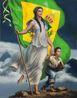 Brasil Monarquía alegoría
