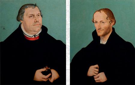 Lutero y Melanchton por-Lucas Cranach el Viejo