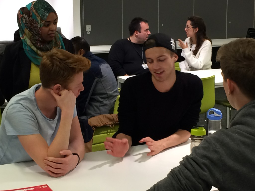 Knowledge Café for students at Westminster Business School, London, October 2015