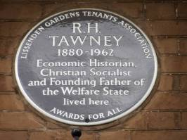 R H Tawney, 21-20 Parliament Hll Mansions, Lissenden Gardens NW5