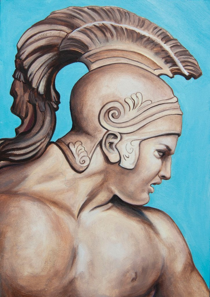 Achilles, a good example of modern, traditional art