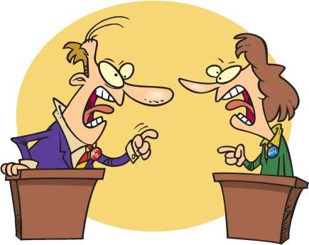 What it looks like talking politics