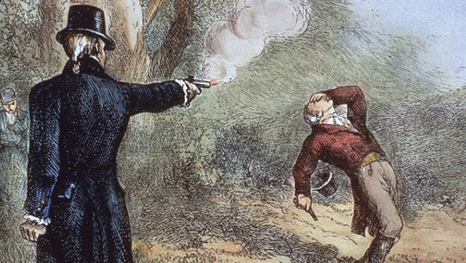 One Shocking Secret of history is that Aaron Burr and Hamilton actually dueled in DC