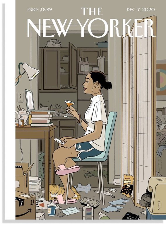 New Yorker Cover with single woman - Mailbag questions episode