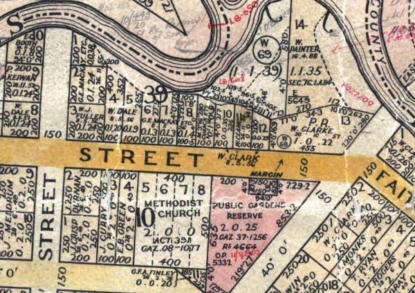 Map of Templeton Street between Baker & Ovens Streets.